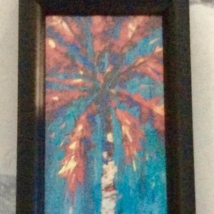 Colorful Palm Tree Framed Picture